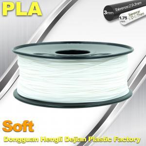 Quality Soft PLA 3D Printer filament., 1.75 / 3.0mm, White Color for sale