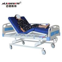 China Three Cranks Manual Hospital Beds , Adjustable Patient Bed Easy Operation With Controller wholesale