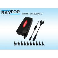 China Red Color LED Halo 90W Automatic Universal Laptop Charger Dual USB 5V 3.1A 10 Tips wholesale