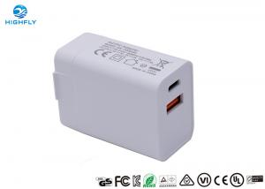 China Dual USB Travel Type C PD Qualcomm Wall Power Adapter Charger wholesale
