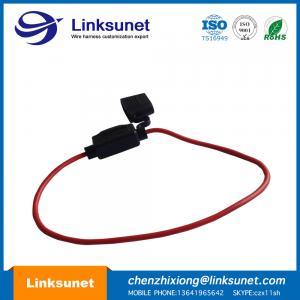 China Automotive 35A 12V / 24V / 36V Maxi Fuse Box Wiring Harness UL1015 - 16AWG OD 3.0MM wholesale