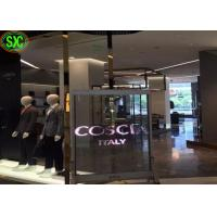 China SCX3.91-H7.8125 Transparent LED Screen / poster led screen for retail shops wholesale