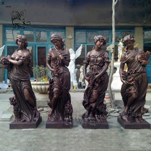 China BLVE Four Seasons Bronze Statues Greek Goddess Sculpture Life Size Garden Decoration wholesale