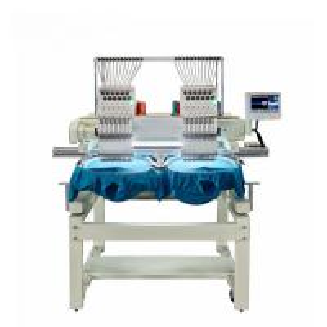 China 1200 Rpm Maximum Speed 2 Head Embroidery Machine  Emb. Area 500 X 450mm on sale