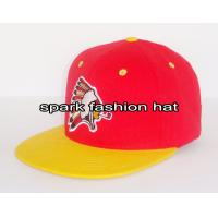 China High quality cotton yellow red embroidered snapback hat wholesale