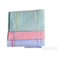 Quality Personalized Plaid Woven Kitchen Tea Towels With Terry Loop Different Color for sale