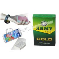 China India Army Marked Playing Cards For Poker Analyzer Reader wholesale