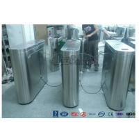 China Indoor / Outdoor Flap Barrier Turnstile Waist Height Turnstile Sliding High Speed wholesale