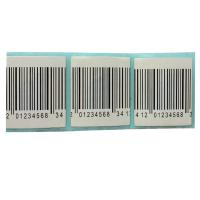 China 30mmx30mm EAS RF  alarm security label 8.2MHz barcode white security label sticker wholesale