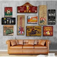 China Hot sale Custom Mdf Restaurant Novelty Wall Sign Hanging Wire Design Vintage Wooden Signs Home Decor With Sayings wholesale