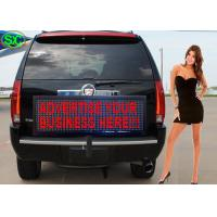 China Single Red Color Car LED Sign Display With Meanwell Power Supply , High Defitination wholesale