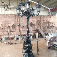 China Victorian Style Antique Cast Street Lamp Post Garden Light Outdoor wholesale
