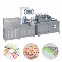China Automatic Multi Cutter Colorful Paper Drinking Straw Tube Pipe Making Machine on sale