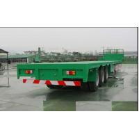 China 13m Steel Flatbed Container Trailer with lock for steel pump or coontainer transportation wholesale