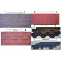 China 2.6mm Colored Asphalt Roofing Shingles , 3 Tab Roofing Shingles wholesale