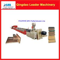 China PP PE PVC+wood two layer co-extrusion Wood plastic composites making machine wholesale