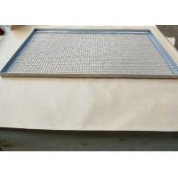 China 304 316 0.8mm stainless steel crimped wire mesh food grade tray wholesale