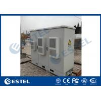 China Durable Outdoor Cabinet Base Station IP55 Three Bay Galvanized Steel Heat Insulation wholesale