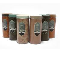 China Custom vintage tin coffee canister wholesale