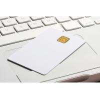 China standard 0.76MM white PVC Loyalty cards with RFID smart chip contacted wholesale