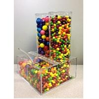 China Plexiglass Display Cases ,Clear Acrylic Candy Dispenser With Notched Lid wholesale