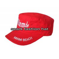 China Custom fashion 100% cotton flat top army military cap for women wholesale