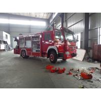 China Rescue Fire Brigade Truck Howo 4 X 2 Emergency Fire Fighting Truck With 5 Tons Crane wholesale