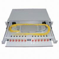 China 19-inch Rack Mount/Optical Fiber Distribution Frame/ODF/Patch Panel, 24 Cores Capacity wholesale