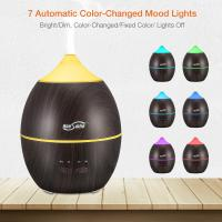 China Super Quiet 300 ml Ultrasonic Essential Oil Diffuser Wood Grain Aroma Ultrasonic Cool Mist wholesale