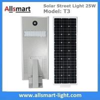 China 25W Solar Street Light Outdoor All in One Integrated Solar LED Street Light Solar Driveway Lights with / without Pole wholesale