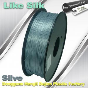 China Polymer Composites 3d Printer filament  1.75 / 3.0 mm  ,Imitation Like Silk Filament ,High Gloss wholesale