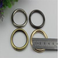 China Small light gold bag accessories metal iron o ring buckles 32 mm wholesale