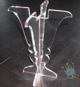 China CH (25) clear Acrylic hurricane lantern candle holder wholesale