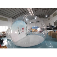 China 4m Inflatable Snow Globe Bubble Tent With Passage Way Background wholesale