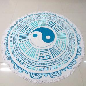 China promotion custom large round beach towel circle beach towel printed custom design wholesale