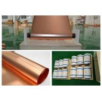 China Refined Ultra Thin Copper Sheet , Max 620mm Width Battery Copper Sheet Roll wholesale