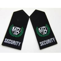 China Custom Color Size Velcro On Twill Embroidered  Shoulder Patches  for Unit Form wholesale