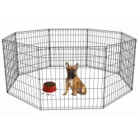 China Foldable Stainless Steel Mesh Box Portable Pet Rabbit Dog Play Pen Exercise Cage wholesale