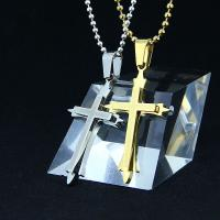 China Fashion Top Trendy Stainless Steel Cross Necklace Pendant LPC274 wholesale