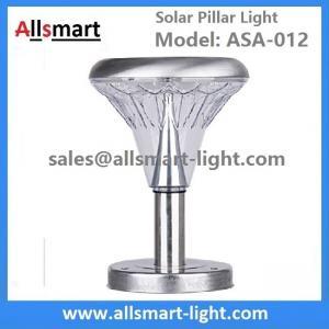 China 10 Inch 21LED Stainless Steel Solar Pillar LED Pathway Lights Path Modern Look Yard Garden Landscape Sidewalk Lamp wholesale