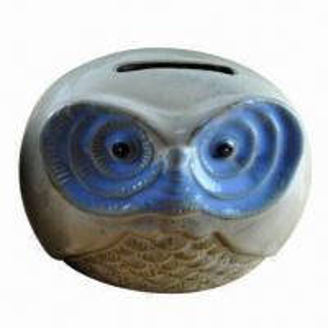 China Owl shape ceramic coin bank, animal ceramic money bank wholesale