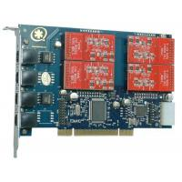 China TDM410P 4 Port with 4 FXO Modules Asterisk Card for Voip wholesale