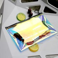 China Holographic Clear PVC Cosmetic Makeup Bag Holographic Lady Travel Storage Bag wholesale