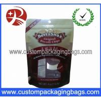 China Red Bottom Gusset Stand Up Pouches Resealable For Dried Fruit on sale