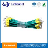 China JST FVWS5.5 - 4 Ring Terminal Cable For Automotive UL1015 - 10AWG Green Color wholesale