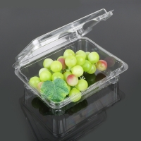 China Rectangle Small 18.5*14.5*6cm Disposable Plastic Food Box on sale