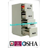 China UL Vertical Metal Fire Resistant Filing Cabinets Fireproof 4 Drawers For Storing Documents wholesale