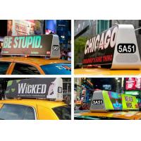 China Outdoor LED Taxi Roof Signs , Taxi Cab Advertising Signs High Definition wholesale