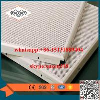 Buy cheap aluminum perforated acoustic ceiling panel for building decoration from wholesalers