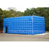 Quality PVC Tarpaulin Blue Inflatable Cube Tent for outdoor event for sale